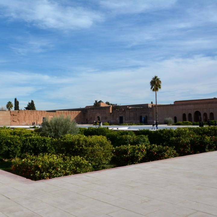 Travel with children kids Marrakesh morocco medina badia palace sunken garden