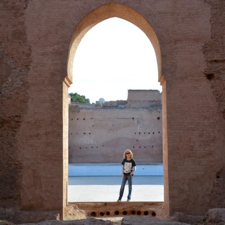 Travel with children kids Marrakesh morocco medina badia palace gate