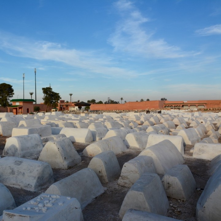 Travel with children kids Marrakesh morocco medina jewish cemetery