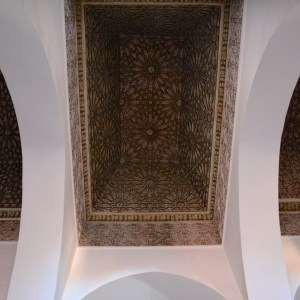 travel with children kids morocco marrakech saadian tombs ceiling