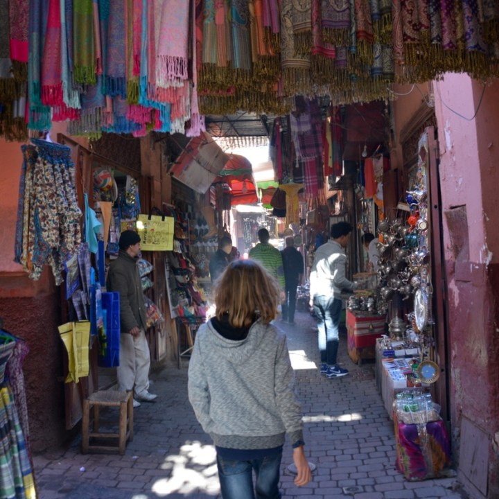 Travel with children kids marrakech morocco souk