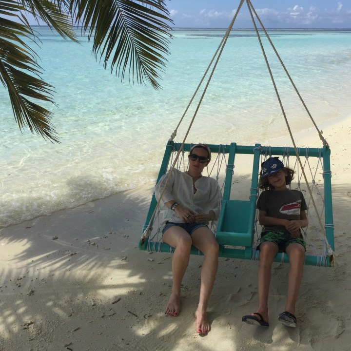 travel with children kids maldives lux south ari atoll hammock