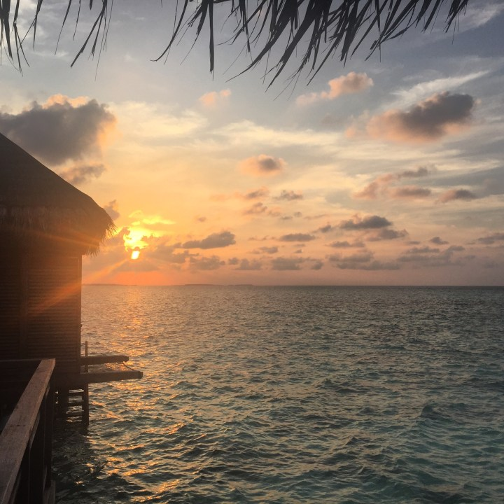 travel with children kids maldives lux south ari atoll magical sunset