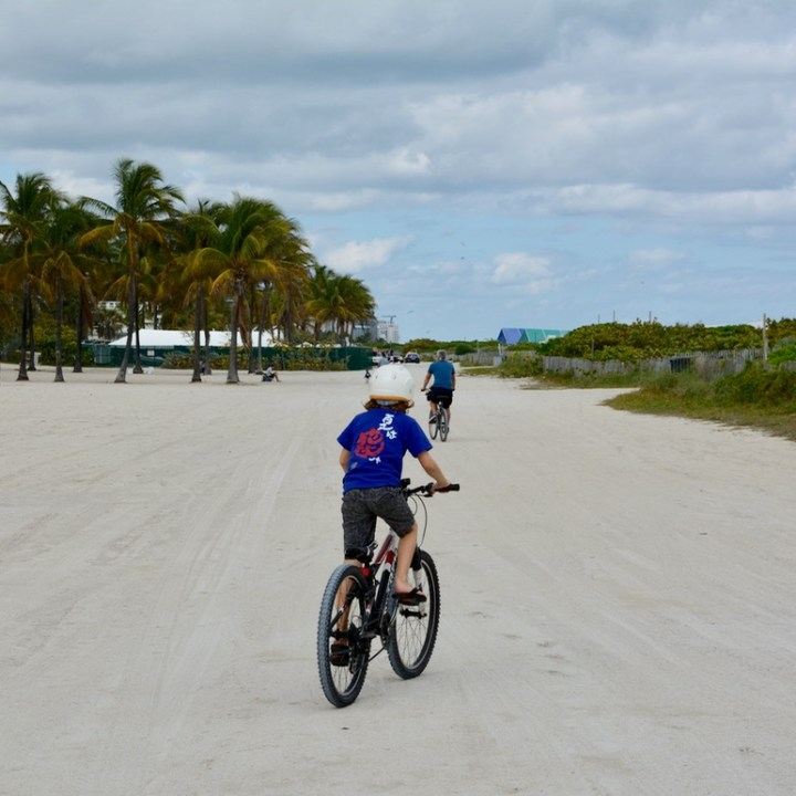 travel with kids children miami south beach art cycling