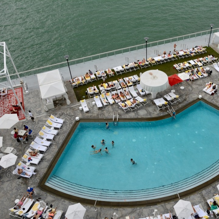 travel with kids children miami south beach mondrian hotel poolside