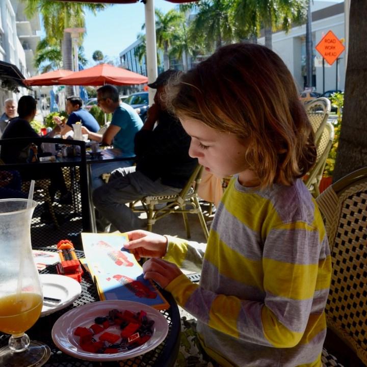 travel with kids children miami south beach mondrian hotel breakfast lego