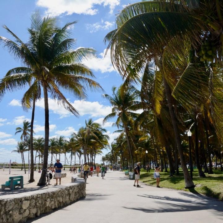 travel with kids children miami south beach side walk