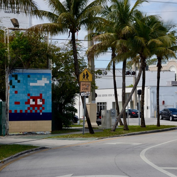 travel with kids children miami south wynwood street art space invaders