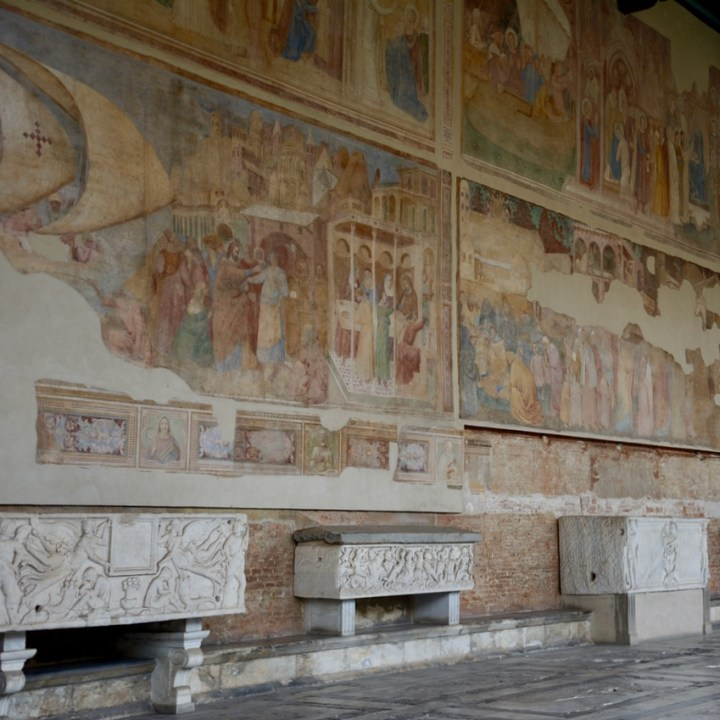 travel with kids children pisa italy miracle square cemetery murals