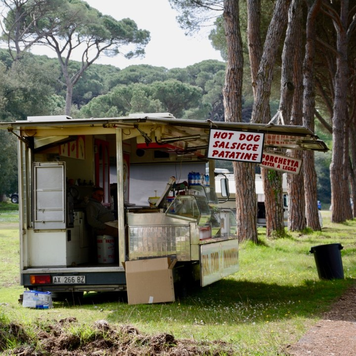 travel with kids children pisa italy nature park Migliarino food stall
