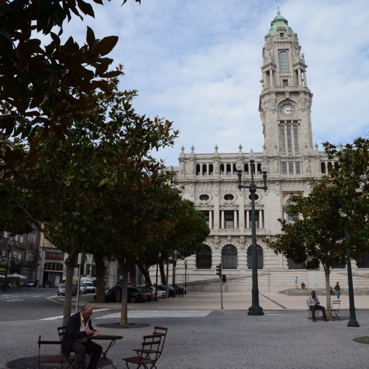 travel with kids children porto portugal monument