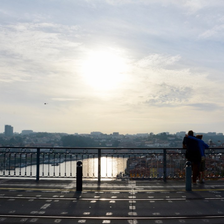 travel with kids children porto portugal bridge view