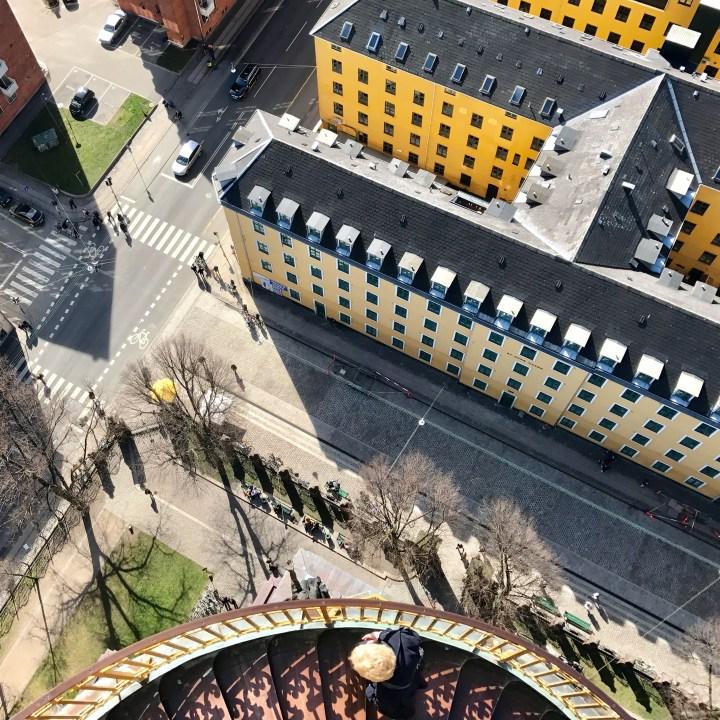 travel with kids children copenhagen denmark our saviour church spire stairs