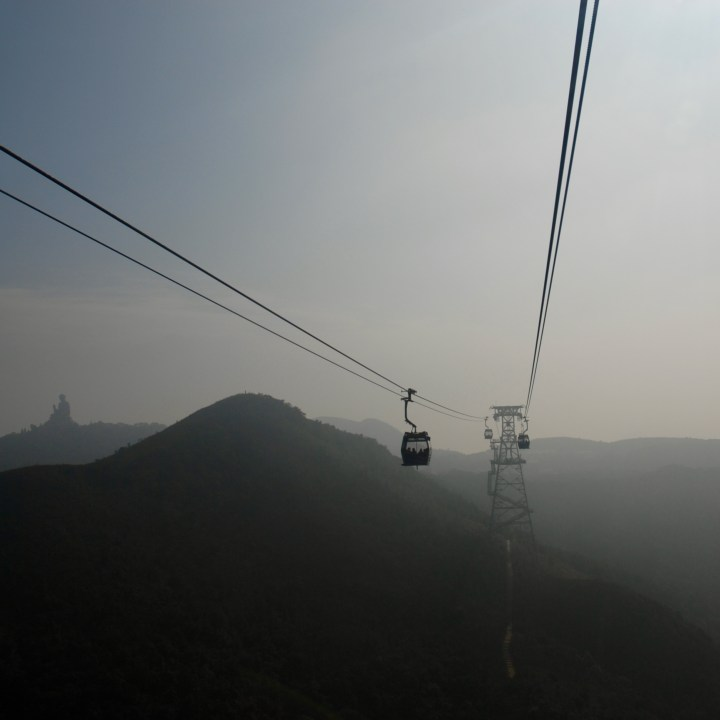 travel with kids children hong kong lantau big buddha cable car
