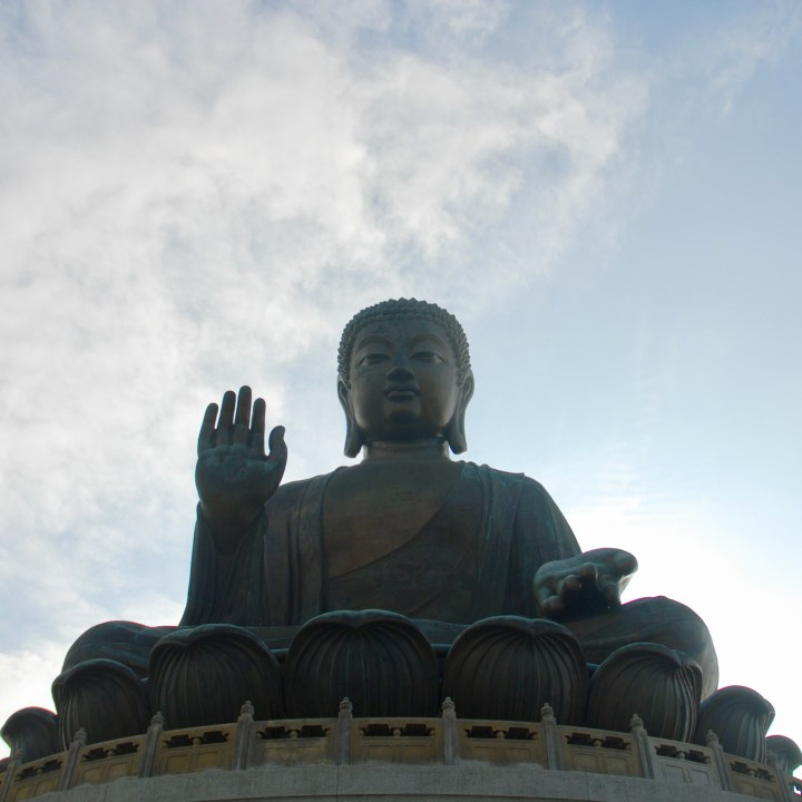 travel with kids children hong kong lantau big buddha cable the statue up close
