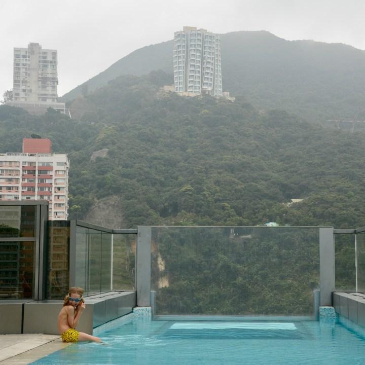 travel with kids children hong kong wan chai hotel indigo pool