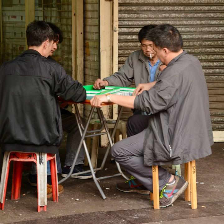 hong kong with kids children kowloon old fruit market mahjong players