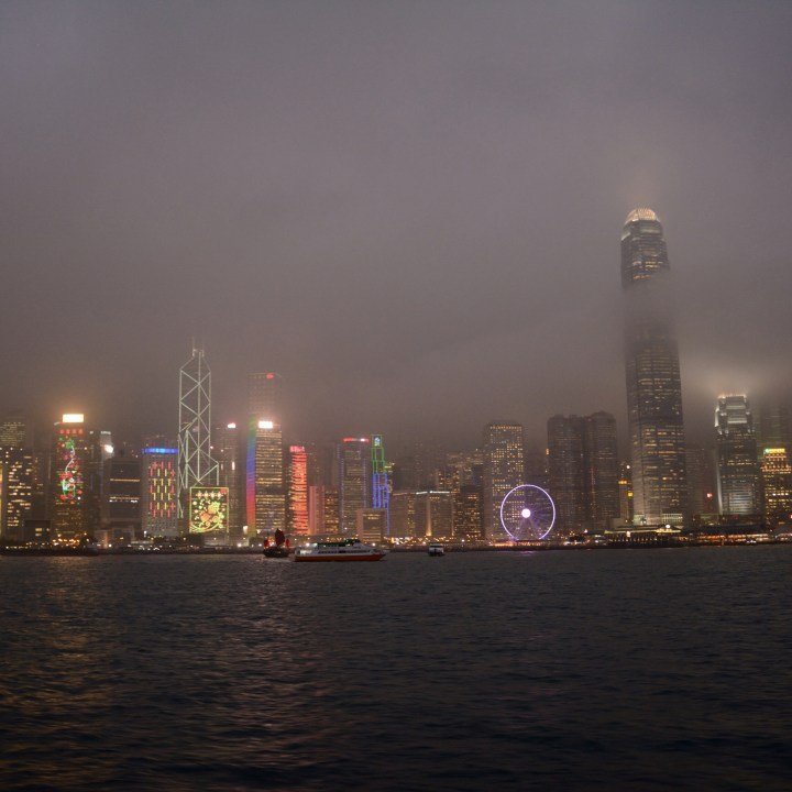hong kong with kids children kowloon skyline by night