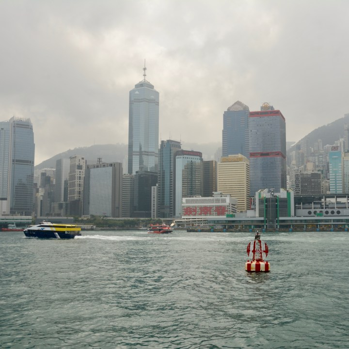 travel hong kong with kids children central skyline view
