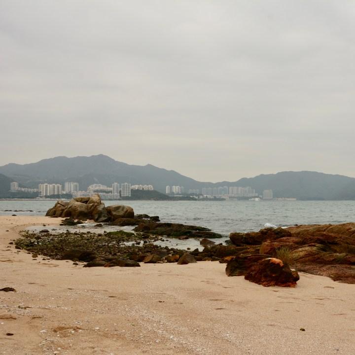 travel with kids children peng chau hong kong beach discovery bay