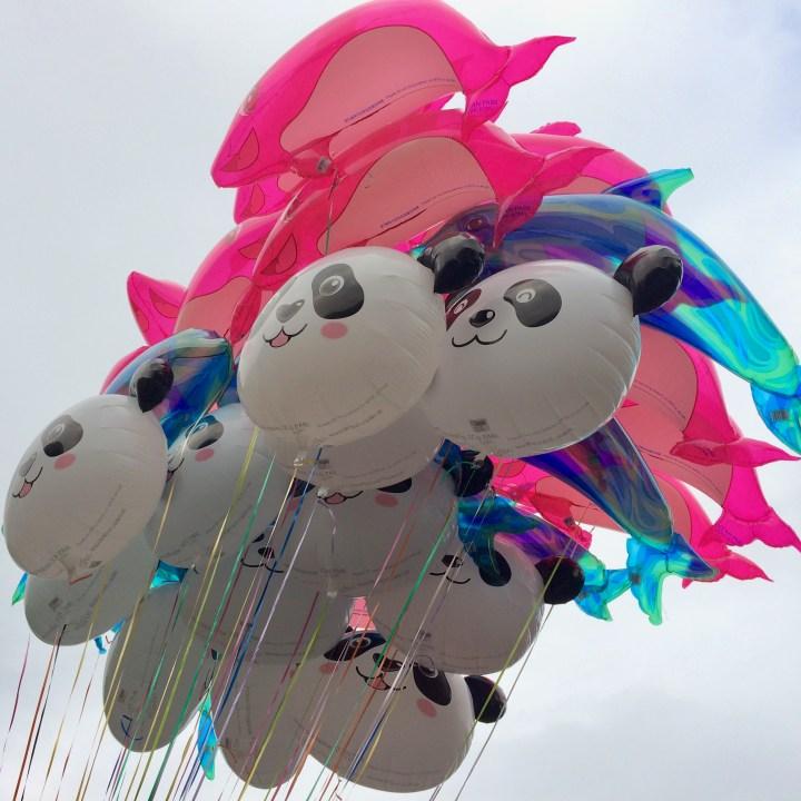 hong kong ocean park with kids children china balloons
