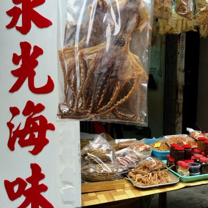 travel with kids children cheung chau island hong kong dried octopus