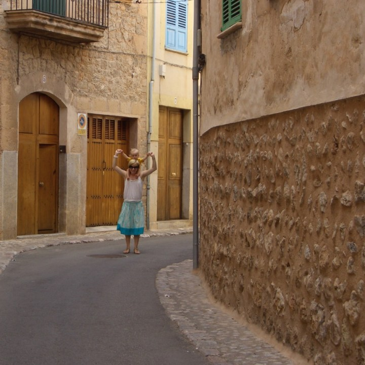 travel with kids children Soller Mallorca Spain alleys