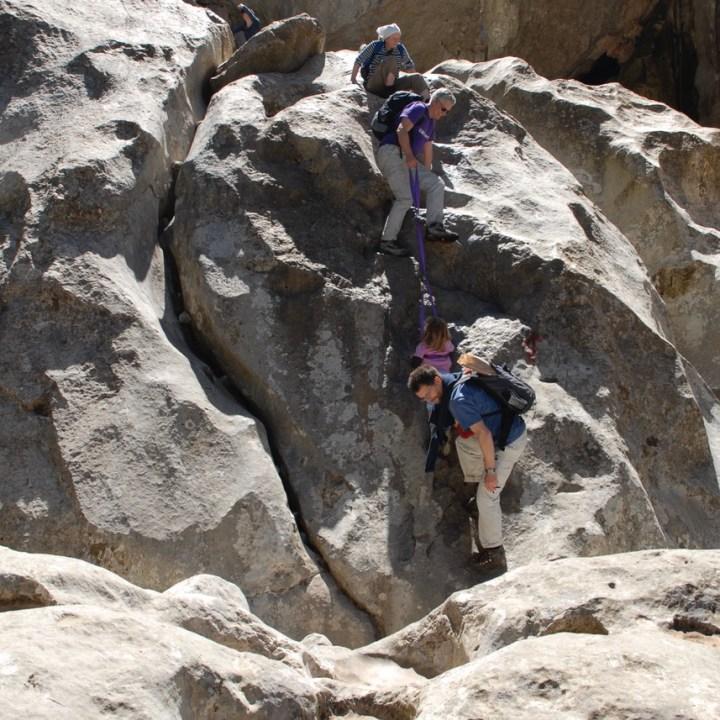 travel with kids children soller mallorca spain hiking torrent de pareis obstacle