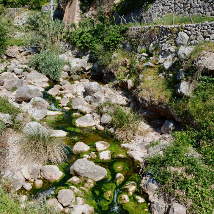 travel with kids children soller mallorca spain hiking fornalutx mountain stream