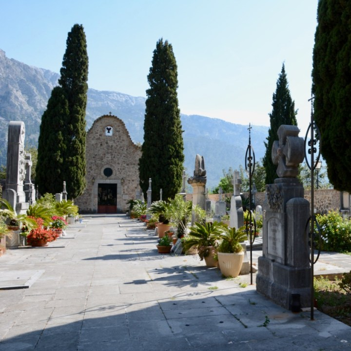 travel with kids children soller mallorca spain hiking fornalutx cemetery