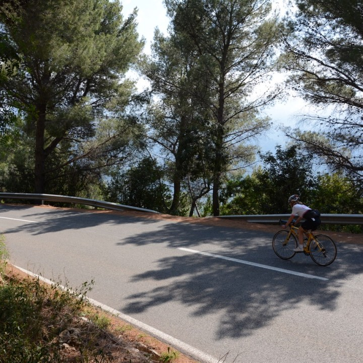 travel with kids children soller mallorca spain mirador ses barques cycling
