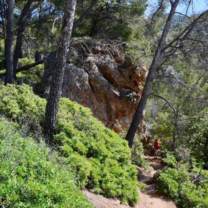 travel with kids children soller mallorca spain coastal hike ben's d'avall to cala deia rocks
