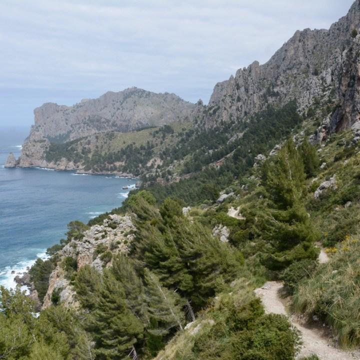 travel with kids children soller mallorca spain hiking cala tuent coastline