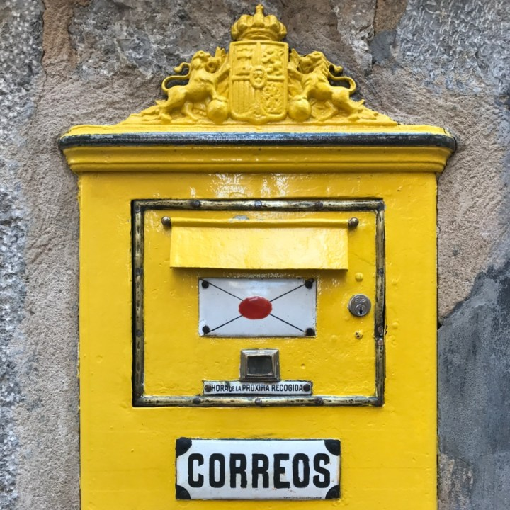 travel with kids children soller mallorca spain hiking fornalutx post box