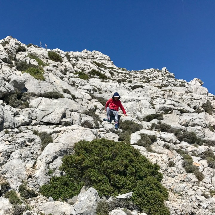 travel with kids children soller mallorca spain three mountain tops hike lofre downhill