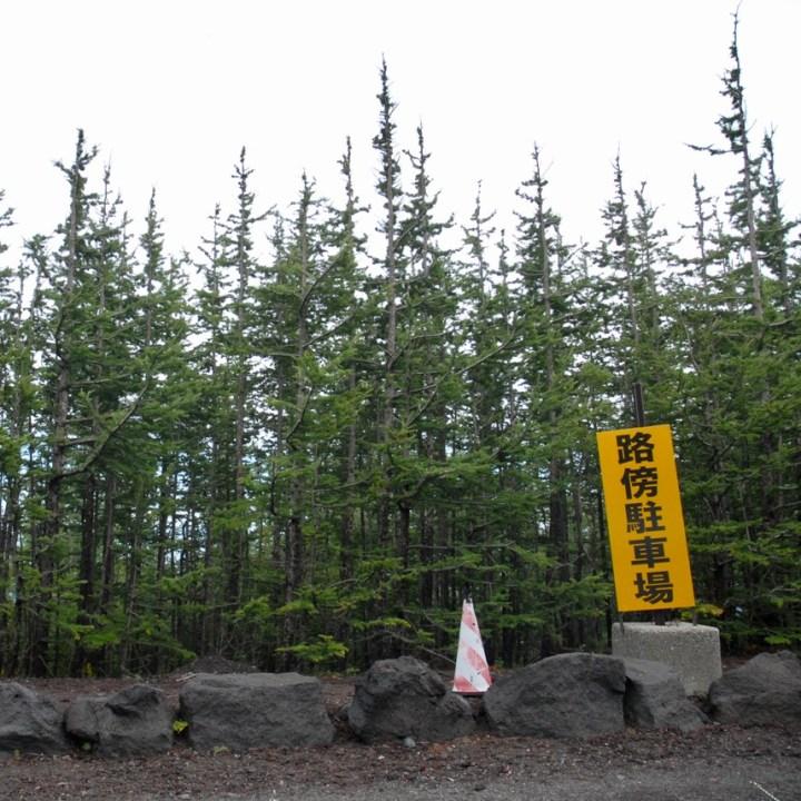travel with kids hiking mount fuji japan road side