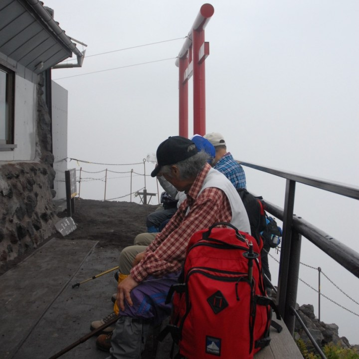 travel with kids hiking mount fuji japan rest