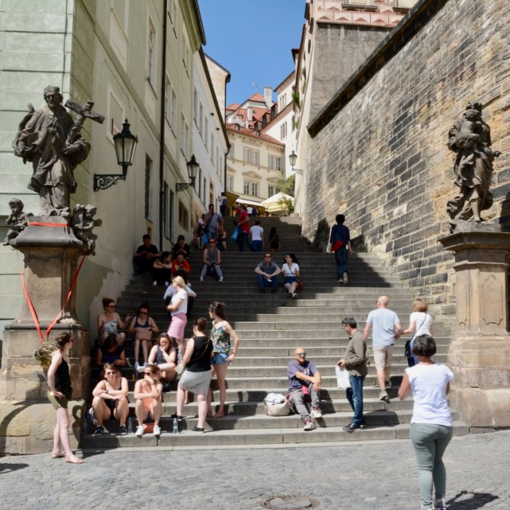 travel with kids prague stairs
