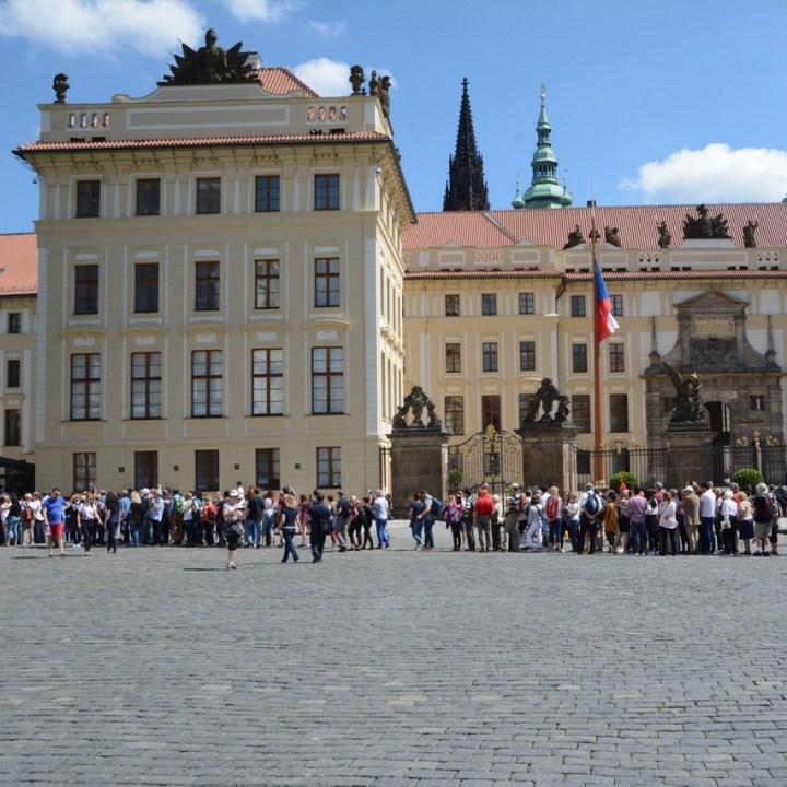 travel with kids prague castle entrance queue