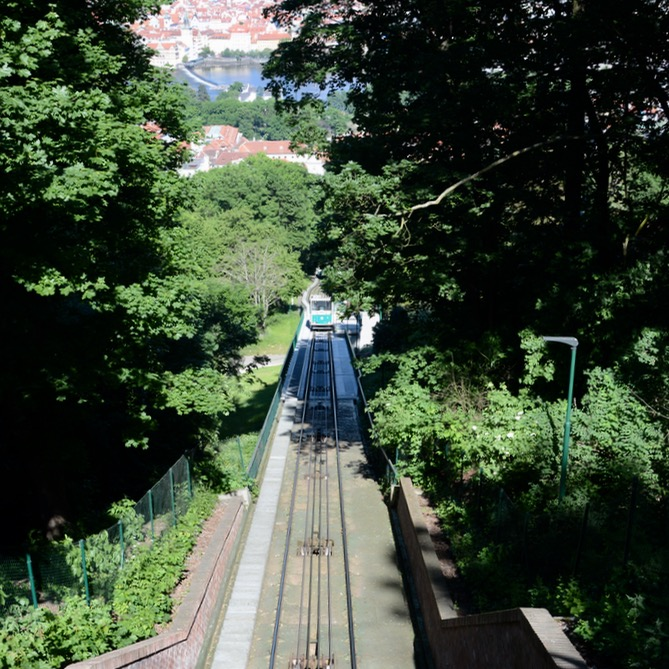 prague with kids guide funicular