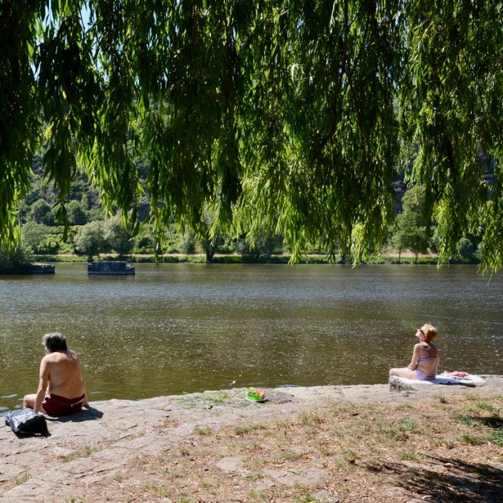 travel with kids prague river side bathing