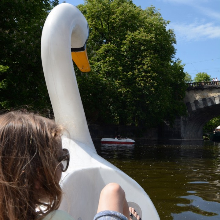 prague with kids guide pedal boat hire