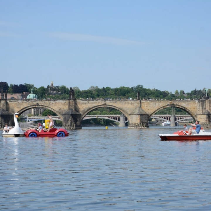 prague with kids guide pedal boat