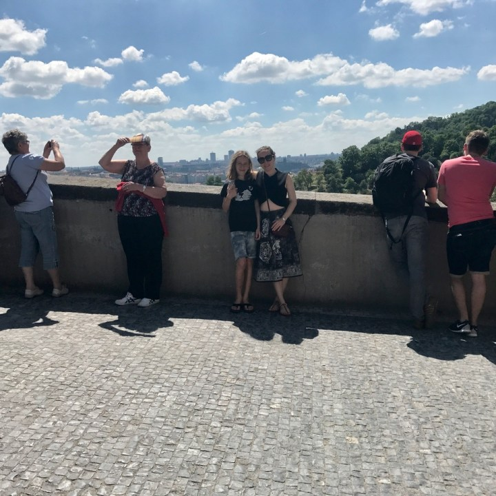 travel with kids prague castle view point