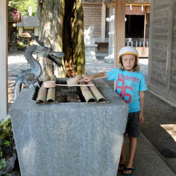 cycling with kids lake yamanakako temple