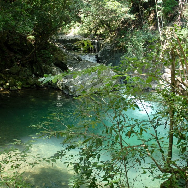 shimoda japan with kids kawazu seven waterfall pool
