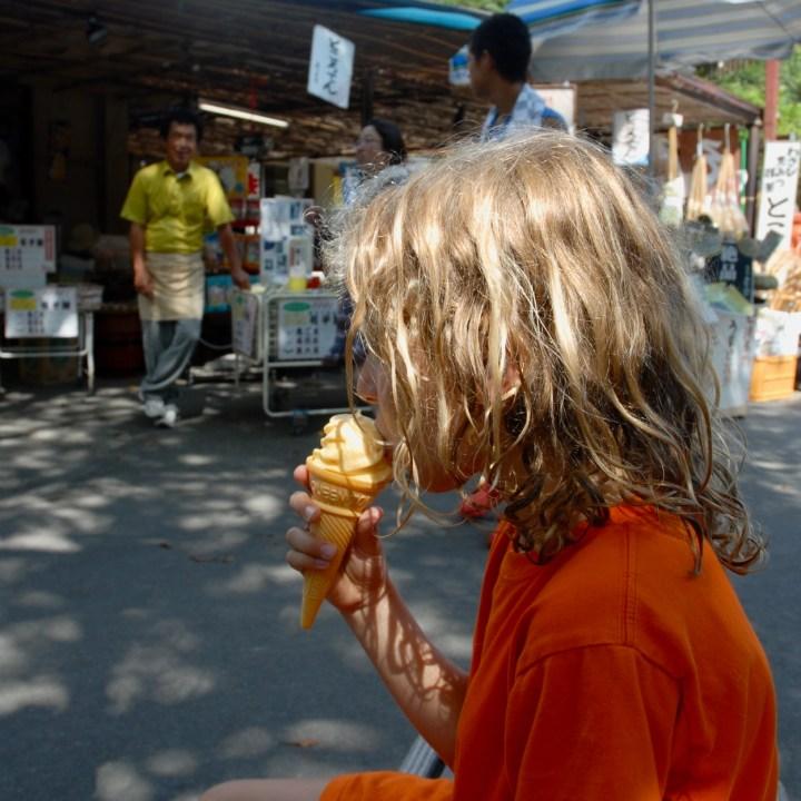 shimoda japan with kids kawazu seven waterfall ice cream