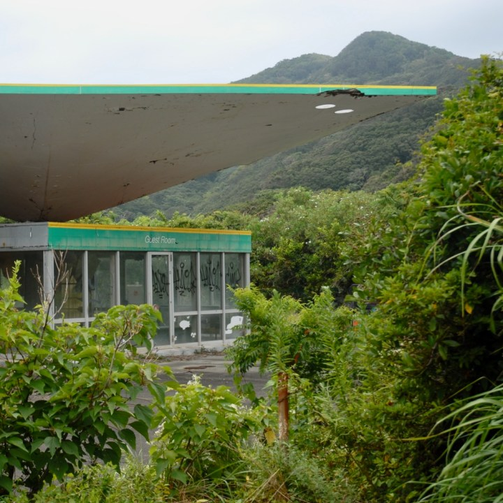 heda japan with kids izu peninsular abandoned petrol station