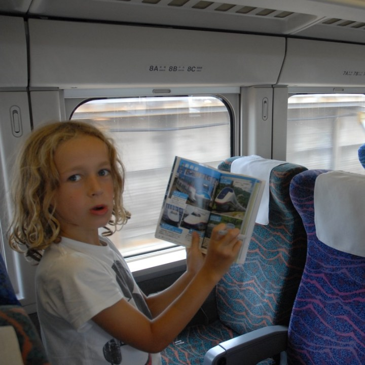 tokyo train museum with kids shinkansen book