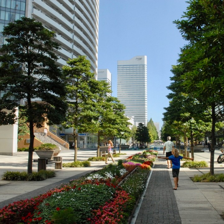 yokohama with kids pedestrian area